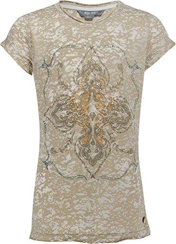 Blue Effect Leichtes T - Shirt im Khaki Camouflage Look - Ausbrenner Optik 5792 Size 170/176