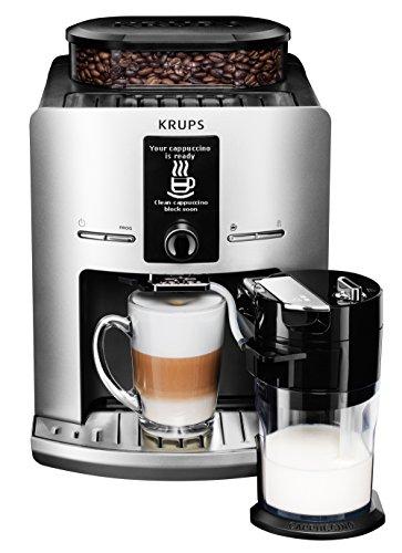 KRUPS EA829E Kaffeevollautomat Latt´Espress One-Touch-Funktion (1,7 l, 15 bar, LC Display) silber