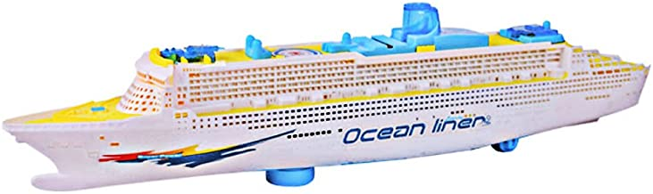 ttnight 19inch Mini Children Boat Toys Music Ship Model Flashing Sound Electric Cruises Boat Model Toys