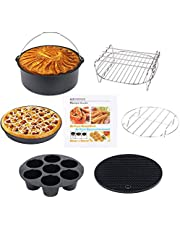 Air Fryer Accessoires 8 Inch 10 Stks voor Gowise Phillips Cozyna Airfryer XL 3.8QT-5.8QT, Extra Gift 4 STKS Barbecue Naald
