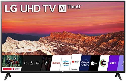 LG 126 cm (50 inches) 4K Ultra HD Smart LED TV 50UM7290PTD (Ceramic BK + Dark Steel Silver)