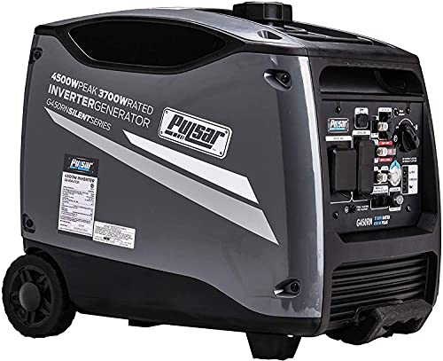ford gas generators Pulsar Products G450RN, 4500W Portable Quiet Remote Start & Parallel Capability, CARB Compliant Inverter Generator, 4500-Watt Gray
