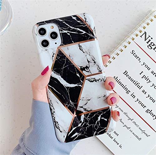 Jacyren - Carcasa para iPhone SE 2020, funda de silicona ultrafina, con purpurina, mármol, antigolpes, antiarañazos, carcasa trasera para iPhone 8 7 SE 2020