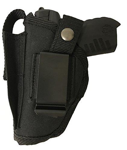 Bama Belts and Leathers Gun Holster fits Colt Defender Black Nylon Ambidextrous Use Left or Right Built in Magazine Holder Adjustable Retention Strap Gun Slinger Holster