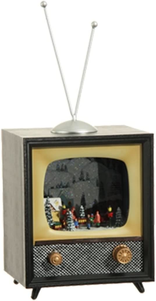 RAZ Imports Animated Holiday Musical Retro TV 10-in San Diego Mall Colorado Springs Mall 3 Television