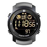 Wan&ya Reloj Digital Militar para Hombre 50M Impermeable Multifuncional Bluetooth Reloj de Pulsera Pulsera de Supervivencia al Aire Libre Frecuencia cardíaca Calorías Cronómetro Podómetro