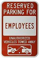 レトロなビンテージスタイルのサイン、従業員の車両牽引Mの予約された駐車場、カフェバーパブホームビール装飾工芸品のビンテージの壁の装飾レトロなビンテージサイン