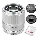 Viltrox 56mm F1.4 XF Autofocus Portrait Lens Compatible with Fujifilm X-Mount APS-C-Format Mirrorless Designed Cameras (Silver)