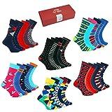 TWO LEFT SOCKS Set di moda Premium di 5 paia di calze! Qualità del cotone, molti disegni e modelli per uomo, donna e bambino (SET 2 IMPOSTA I COLORI LUMINOSI E DIVERTENTI, EU 35-38 / UK 3-5)