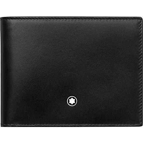 MST Wallet 6cc Black-Light Blue Material impermeable Diseño elegante y cómodo de llevar Todos nuestros productos están identificados con un emblema Montblanc Tamaño: 11 x 8,5 x 1