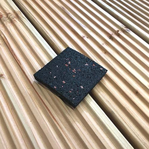 Trupa 100 x Bautenschutzmatte 60 x 60 x 8 mm,Terrassenpad, Pads, Terrassenunterlage, Unterleger, Gummipad, Antirutschmatte