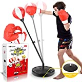 Punching Bag for Kids, Boxing Bag Set for Age 4, 5, 6, 7, 8, 9, 10 Years Old Boys, Height Adjustable...