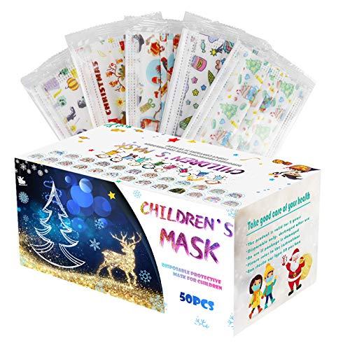 Covermason 50 Stück, 25 Stil, 2er Per Motiv, Einzeln Verpackt, 14.5 x 9cm, Einweg, für Kinder Jungen Mädchen Weihnachten Deko (Mehrfarbig)