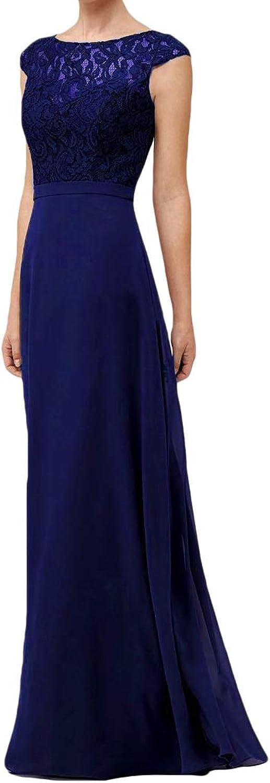 Liyuke Women's Boat Neck Lace Prom Dress Long Sleeveless Formal Evening Gowns