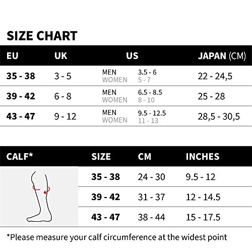 Graduated Compression Socks 1 Pack, for Women, Men, Shin Splints, Nurse, Flights (Blue, EU 43-47 // UK 9-12)
