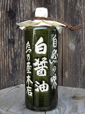 たつ乃屋本店 米しろ醤油 徳利(小)(720ml)
