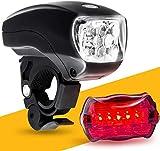 ZHEYANG Luces Bici Luz Bicicleta Conjunto de la luz de la Bicicleta Delantera, Cinco Faros de la Bicicleta de la Bicicleta de la Bicicleta LED Brillante Set, Modelos Negros (Color : Combination)