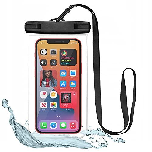 Tech-Protect Funda impermeable para teléfono móvil de 6,9 pulgadas, protección impermeable IPX8 para nadar y bañarse, para iPhone 12 Pro/iPhone 11/Galaxy S20, transparente