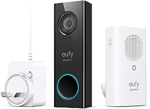 Eufy Security deurbel, wifi, met HD 2 K, audio bi-directional, zonder maandelijkse kosten (vereist bestaande beldraden, 1...