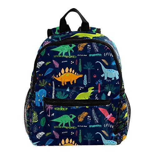 Backpack for Girls Kids Schoolbag Children Bookbag Women Casual Daypack Dark Blue Yellow Dinosaur