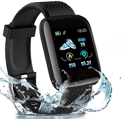 2020 New Model Smart Watch,Men's and Women's Fitness Tracker, Blood Pressure Monitor, Blood oximeter, Heart Rate Monitor, Waterproof Smart Watch, Compatible with iPhone/Samsung/Android Phones -Black
