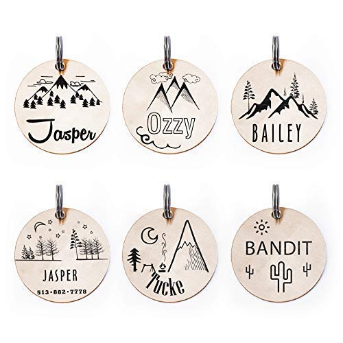 Mountain View Personalized Dog Tags Engraved Pet Collar Id Nameplate Gift Amazon Co Uk Handmade