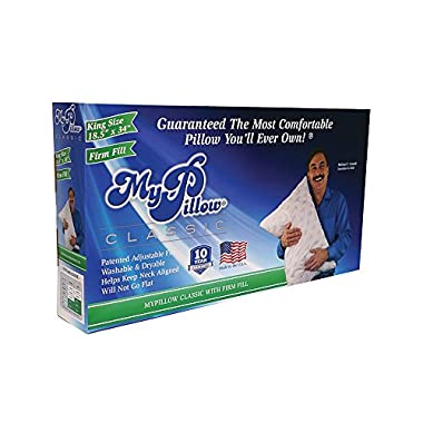 My Pillow Classic Series Bed Pillow, King Size, Firm (Single Pillow)