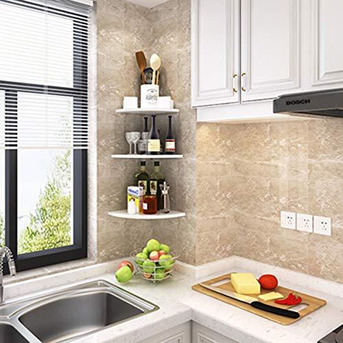 MASUNN Hoek Wandplank Drijvende Muur Gemonteerd Keuken Opslag Rack Display Kantoor Home Decoraties, C, 1