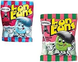 Eiffel Bon Bons 1.25oz 8 Bag Variety Snack Pack, French Candy (4 Watermelon, 4 Blue Raspberry)