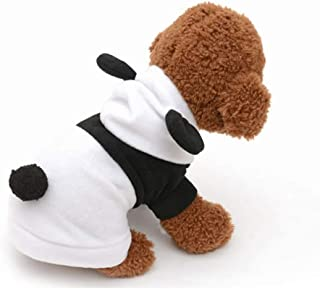 Mumoo Bear Dress Clothes Panda Costume Hoodie for small Dog Puppy Cat Fancy Paws - Size M