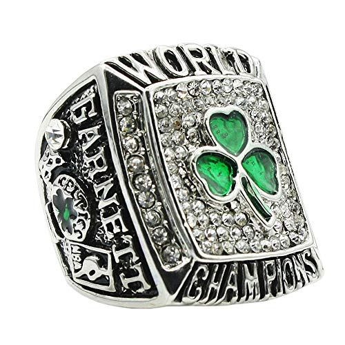 DINO Mens Silver Gemstone Titanium Steel The Year 2008 of Celtic Championship Rings,Size 11