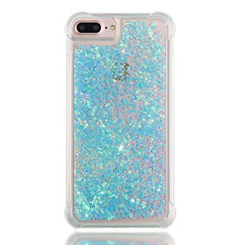 Carcasa Glitter Silicona para iPhone 6s Plus, Silicona Funda para iPhone 7 Plus, Suave Brillo Arena Movediza Parachoques Glitter Carcasas Brillante Funda para iPhone 6 Plus/6S Plus/7 Plus/8 Plus