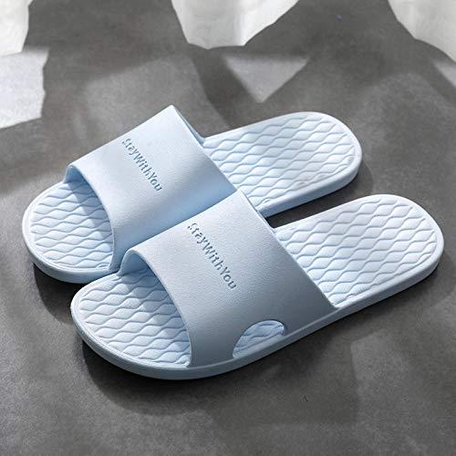 HUSHUI Suela de Espuma Suave Zapatos para Piscinas,Pantuflas de baño Antideslizantes de Interior, Sandalias Desodorante de Suela Blanda-Blue_36-37,Zapatillas de Ducha para Mujeres