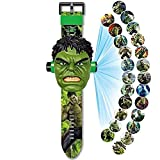 Orologio da Polso con proiettore Digitale, Orologio Giocattolo per Bambini, Orologio da 24 Cartoni Animati con Motivo a Immagini, per Regali per Bambini/Ragazzi (Hulk)