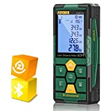 Medidor Láser 60m, POPOMAN Telémetro Láser (Bluetooth4.0 + App), Niveles de Burbuja con Carga...