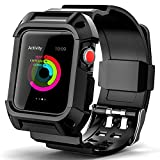 BeeFly Compatible with Apple Watch Band 42 mm Men,Rugged Protective Breathable Replacement Band Strap for 42 mm Apple Watch Band Series 3 for Men Sport Outdoors