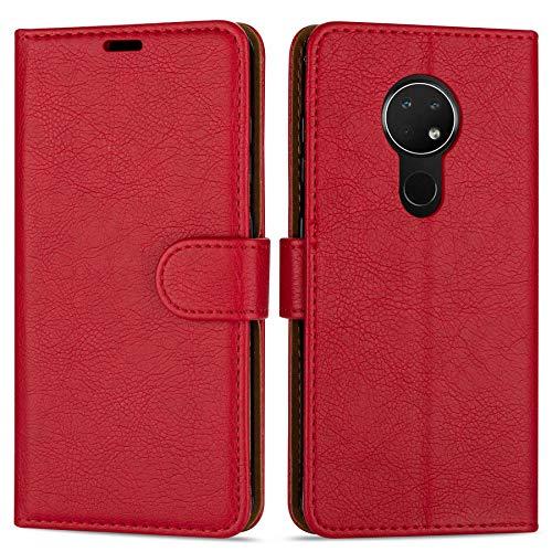 Hülle Collection Hochwertige Leder hülle für Nokia 7.2 Hülle (6,3