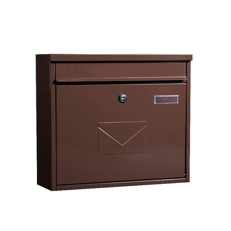 メールボックス、メールボックス大型ヨーロッパ別荘メールボックス屋外壁防水および防水エクスプレスレターボックス(色:A)
