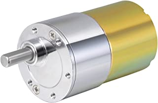 uxcell 24V DC 600 RPM Gear Motor High Torque Electric Reduction Gearbox Eccentric Output Shaft