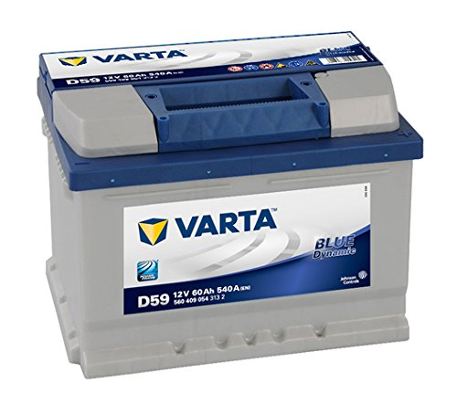 Varta Blue Dynamic D59 Batterie Voitures, 12 V 60Ah 540 Amps (En)
