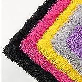 Tessuto di Lusso in Pelliccia Sintetica Peluche Soffice Accogliente per Fai da Te Cuscino Sedile Cuscino Costume Decorazione Area Tappeti Puntelli Fondali Cosplay(Color:2 Red)