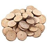 DOITOOL 100 piezas rodajas de madera circulos de madera manualidades discos de madera natural...