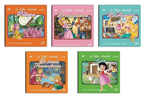 5 CD + DVD Canzoncine e Fiabe Per Bambini, La Sirenetta, Heidi, Pollicina, Lo Schiaccianoci, La Piccola Fiammiferaia, ( NO Cartoni Walt Disney ) Offerta