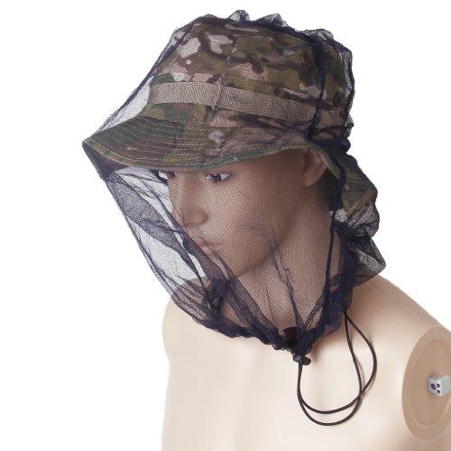 Protection de Tête Filet Protecteur du Visage Anti Moustique pour Camping en Plein Air - Noir