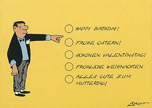 Postkarte A6 • 011 ''Zum Ankreuzen'' von Inkognito • Künstler: Loriot • Weihnachten • Ostern • Geburtstag
