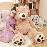 DOLDOA Big Teddy Bear Stuffed Animals with Footprints Plush Toy for Girlfriend 51 inch (Brown)