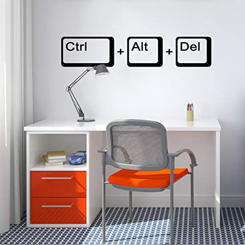 Laptop Science pirational Quote Home Decor Ctrl Alt Del Computer Geek Science Wall Sticker Study Room Poster 57X11CM