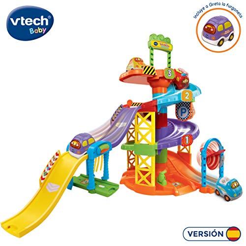 VTech- Aparcamiento TutTut Bólidos Parking Interactivo, Incluye a Greta La Furgoneta, Multicolor, 23.9 x 23.9 x 14.2 (3480-152722)