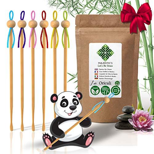 Oriculi en Bambou 6x [AAA+] – Cure Oreille Ecologique Reutilisable à vie pour remplacer le Coton Tige 🍀❤️Garantie à VIE❤️🍀 – Nettoyeur d'oreilles Japonais Zero Dechet
