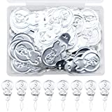 200 PCS Silver DIY Needle Threader, Tone Wire Loop Needle Threader Stitch Insertion Hand Machine Sewing Tool for Threading Beads Embroidery Sewing Project,